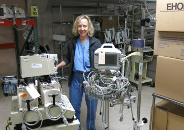 Photo: St. Joseph Hospital, Dr. Peggy Schrieber, medical gear headed for Africa
