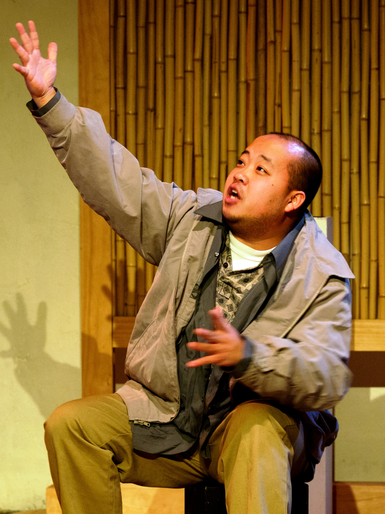 Photo: Peter Trinh in Theatre Esprit Asia's Coming to America