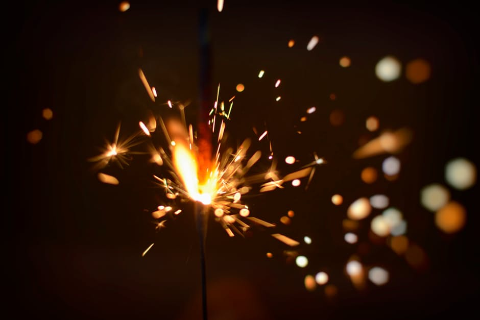 Sparkler Stock Photo (no attribution required)