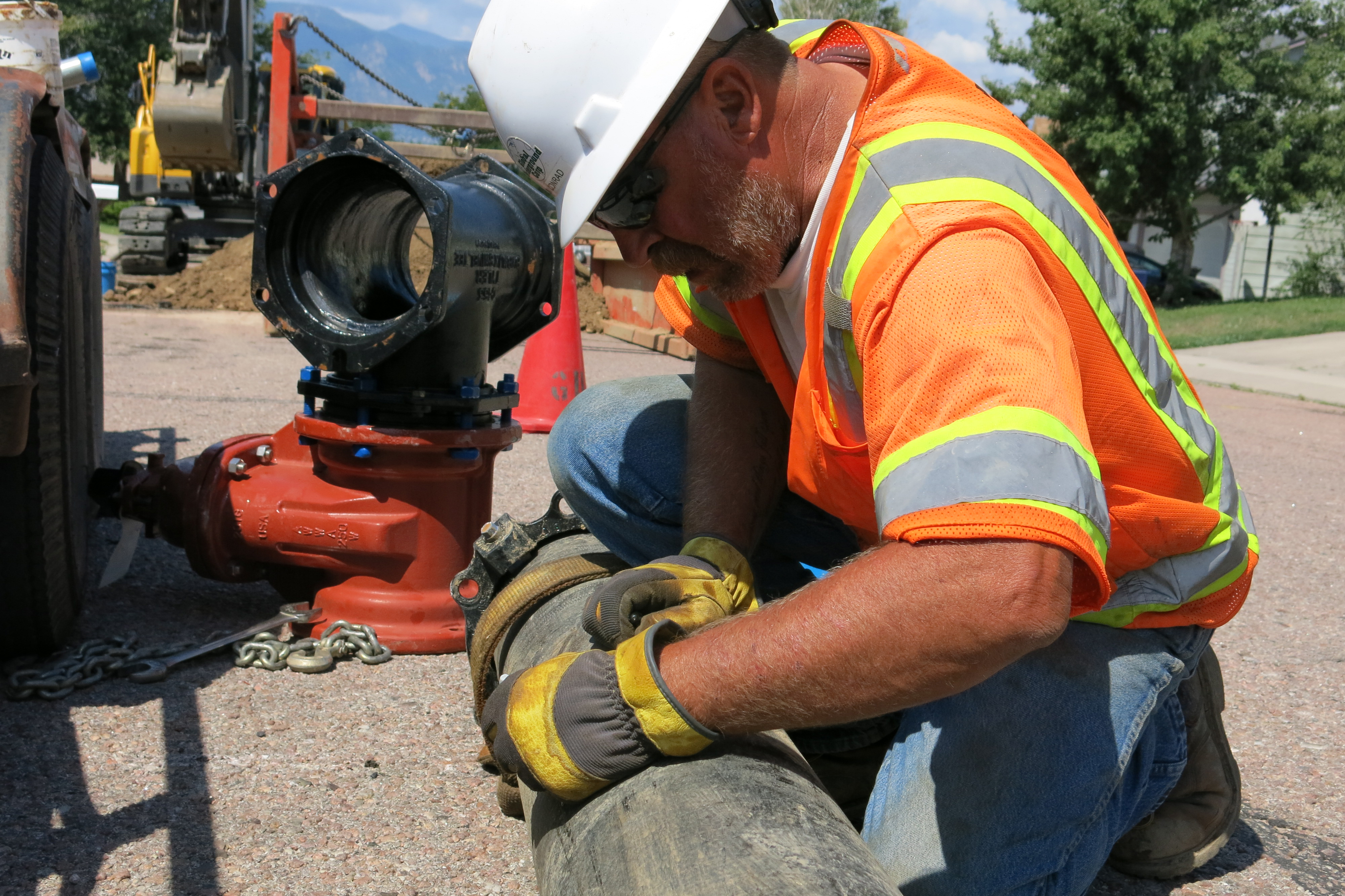 Photo: PFCs, Security, Widefield, Security Water and Sanitation District Worker