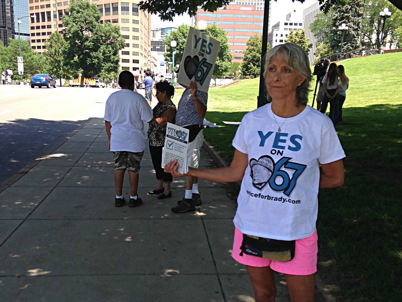 Photo: Amendment 67 supporter