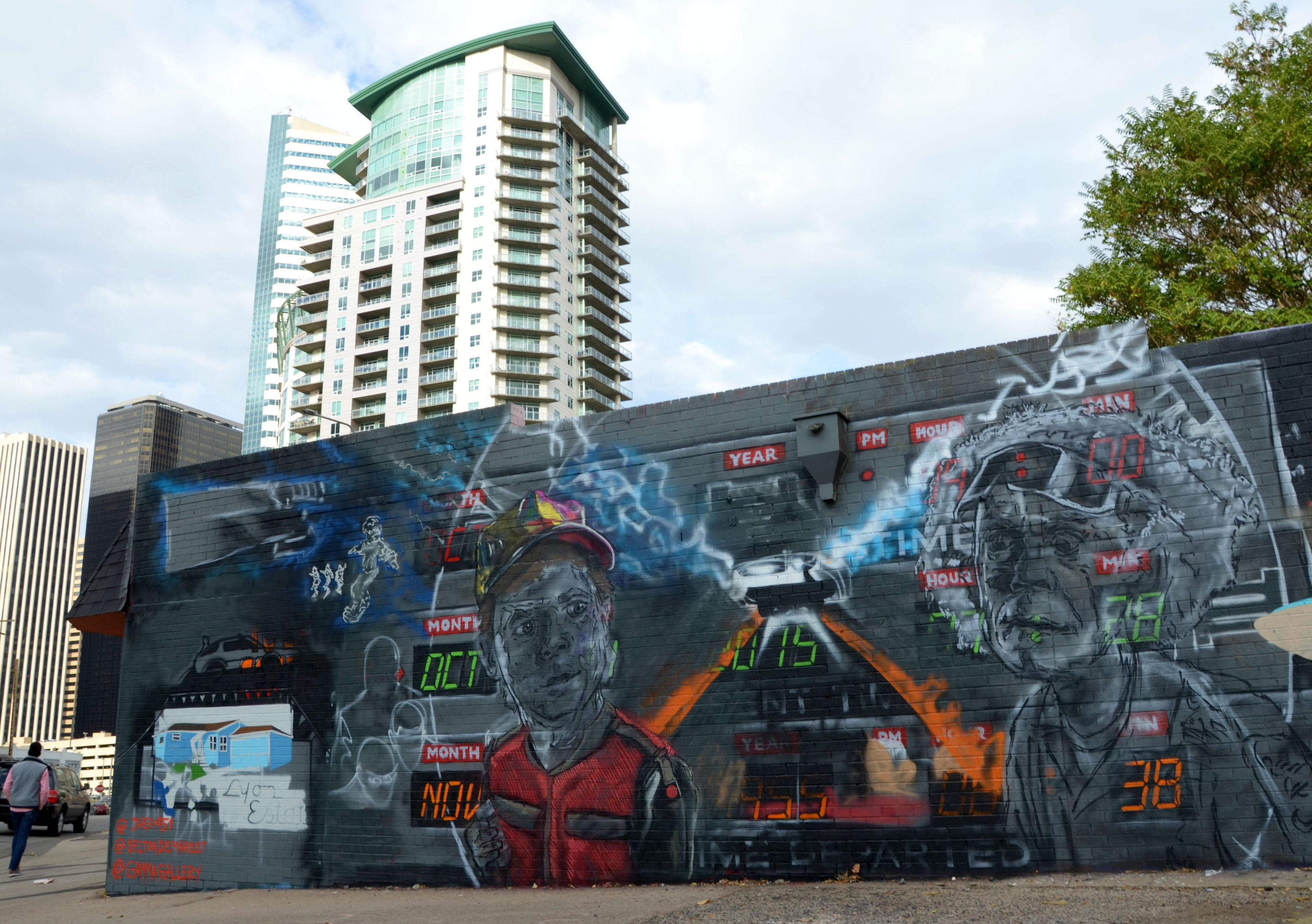 Photo: 'Back to the Future' graffiti mural