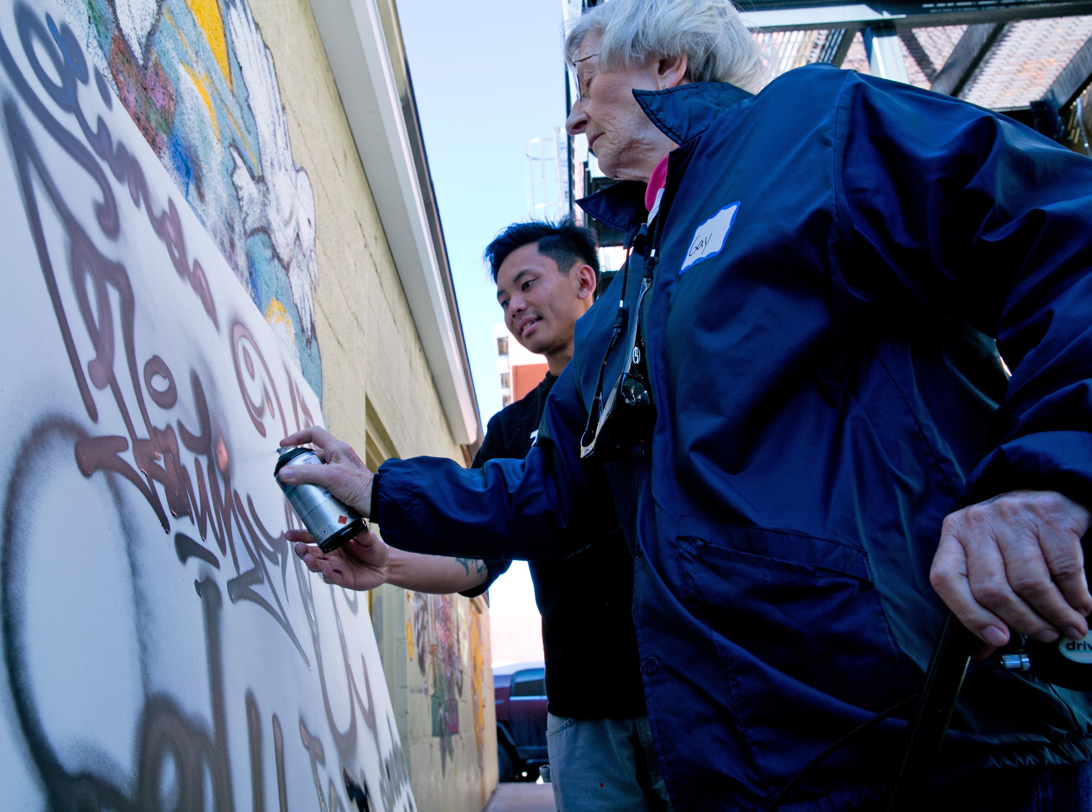 Photo: Granny Does Graffiti at VSA Gallery 3