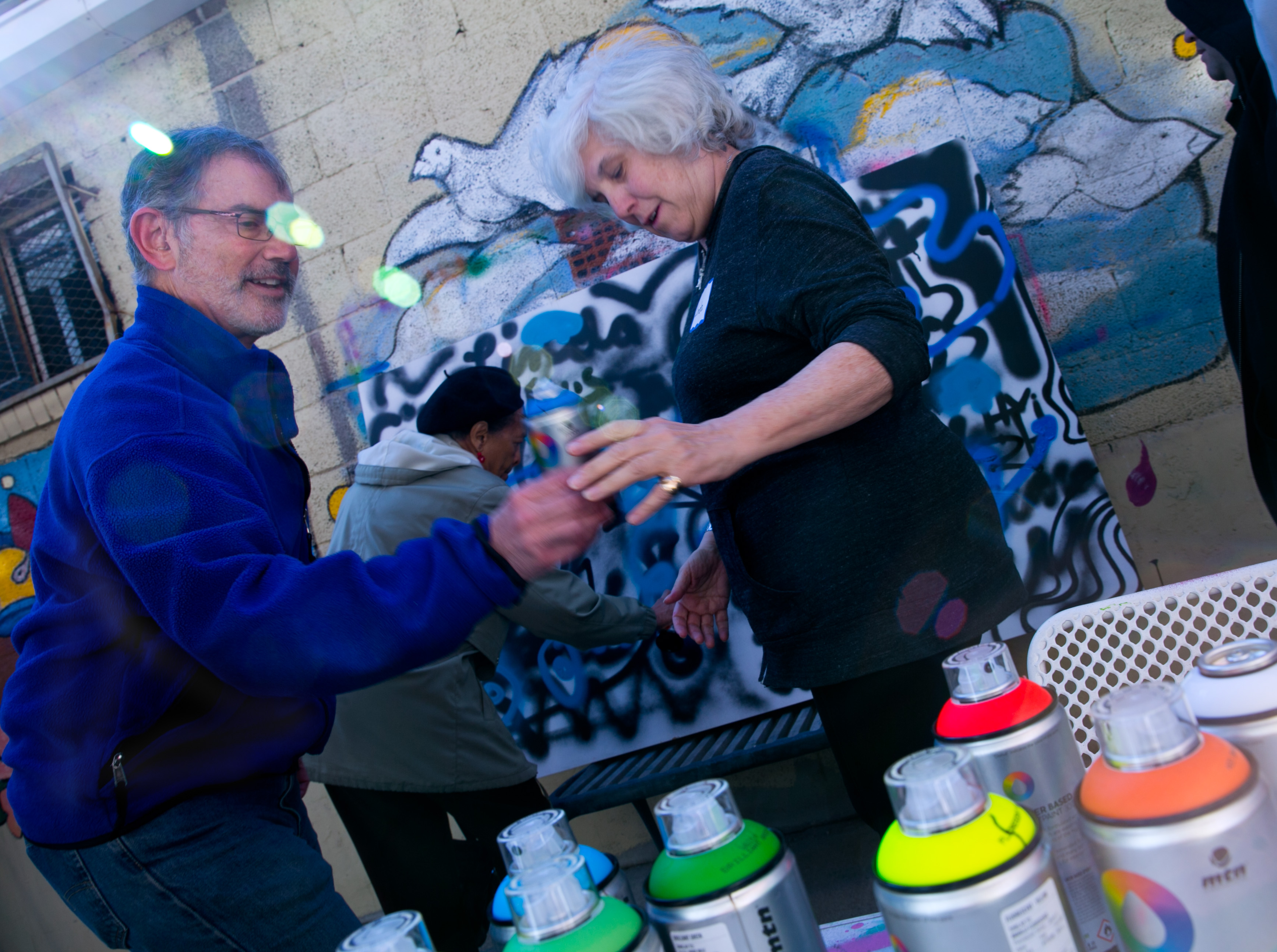 Photo: Granny Does Graffiti at VSA Gallery 4