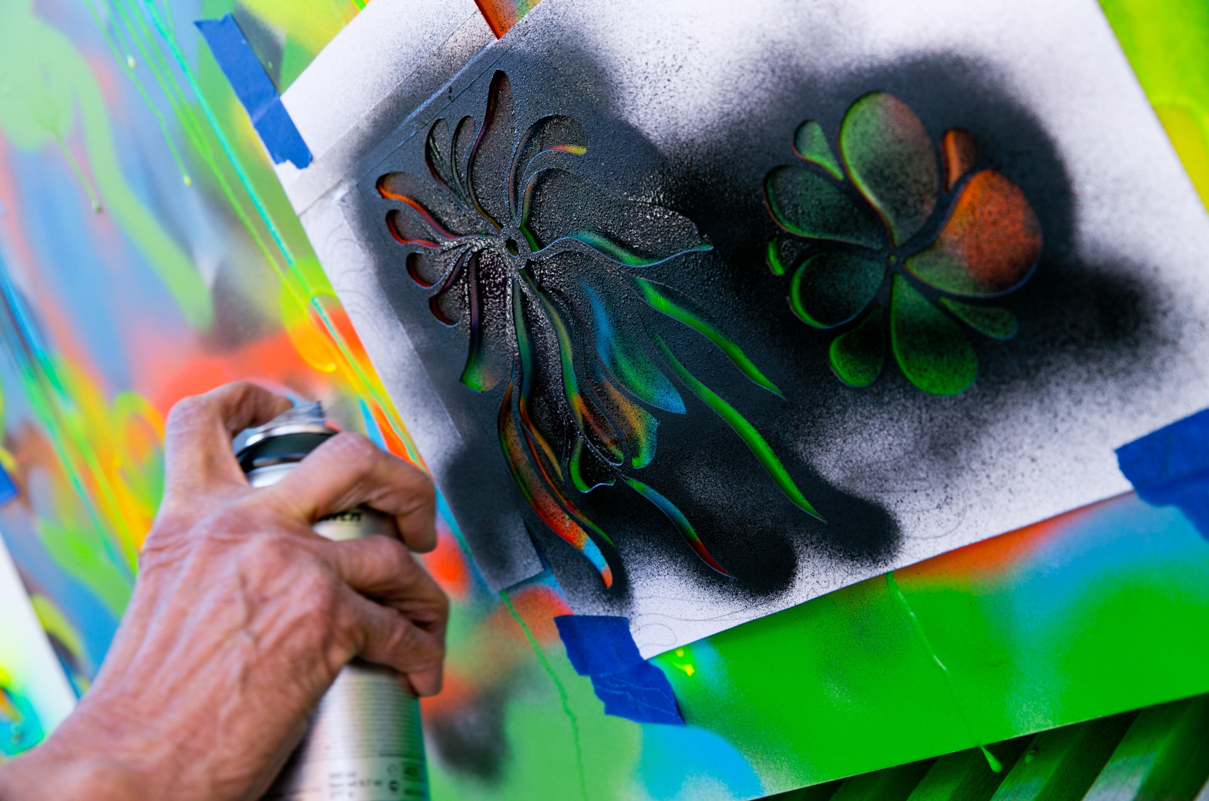 Photo: Granny Does Graffiti at VSA Gallery 7