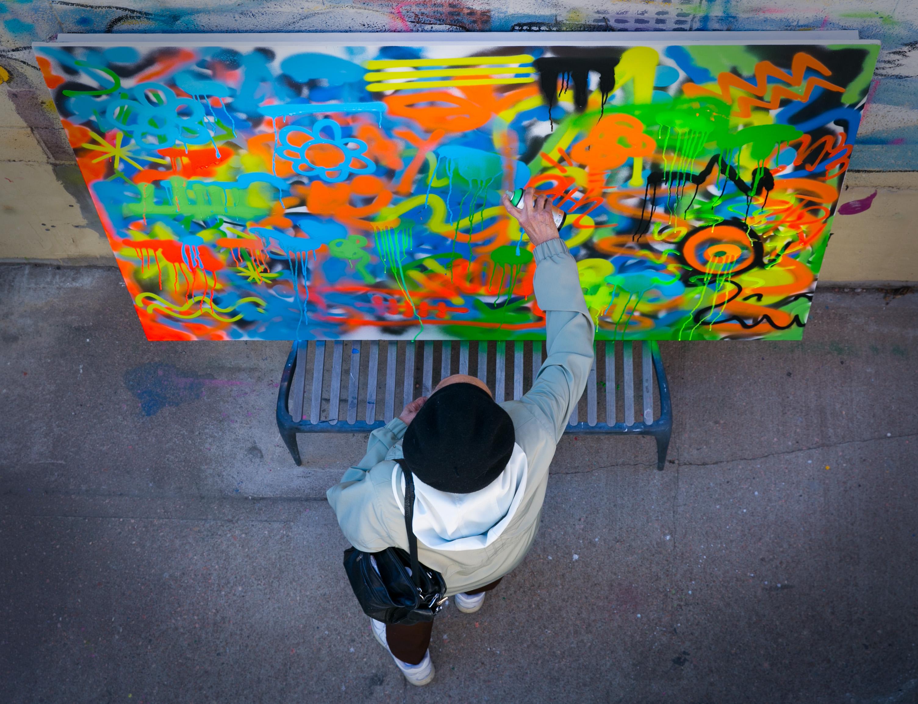 Photo: Granny Does Graffiti at VSA Gallery EXTRA