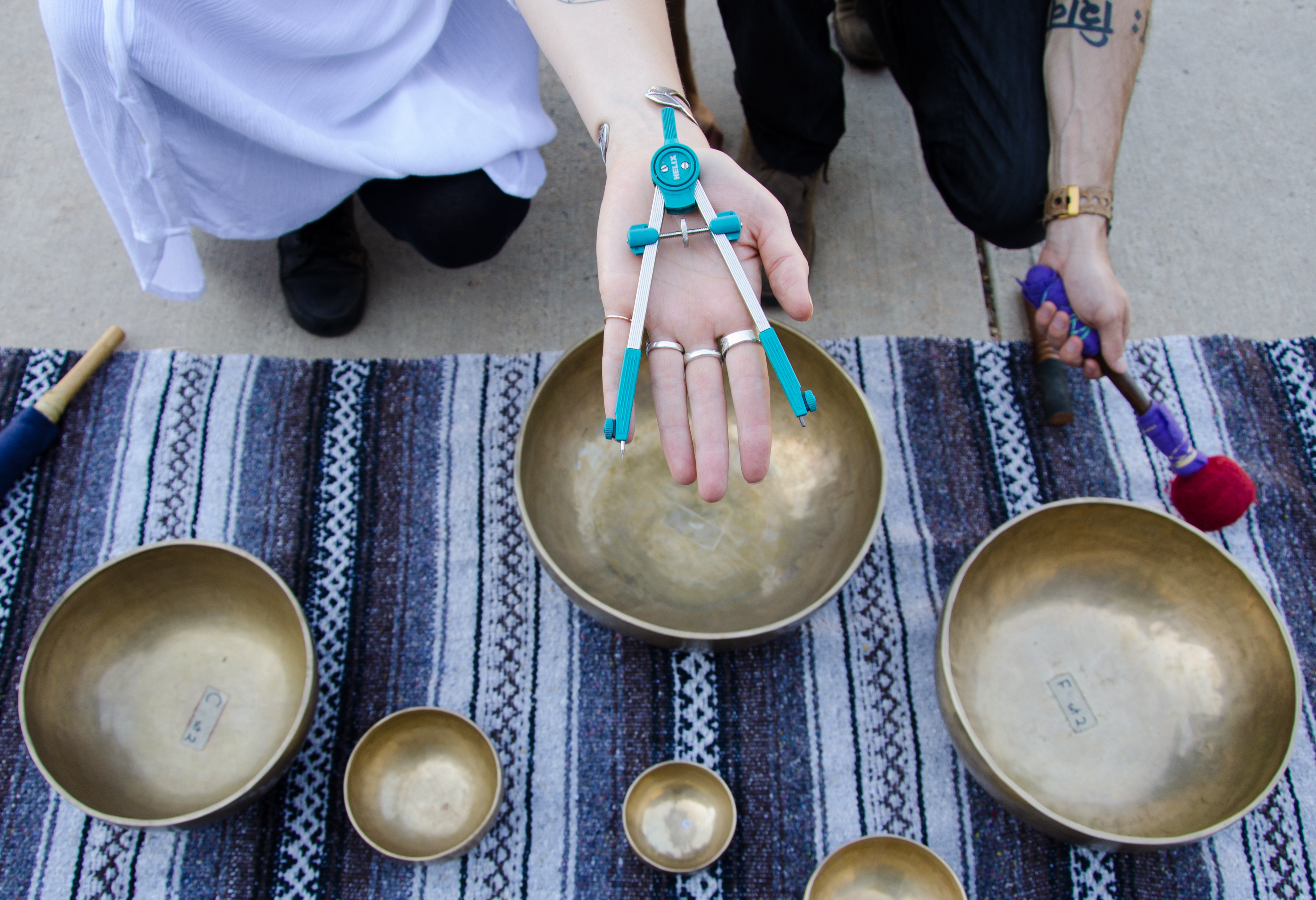 Photo: Artist Gemma Danielle's Compass And Sound Bowls