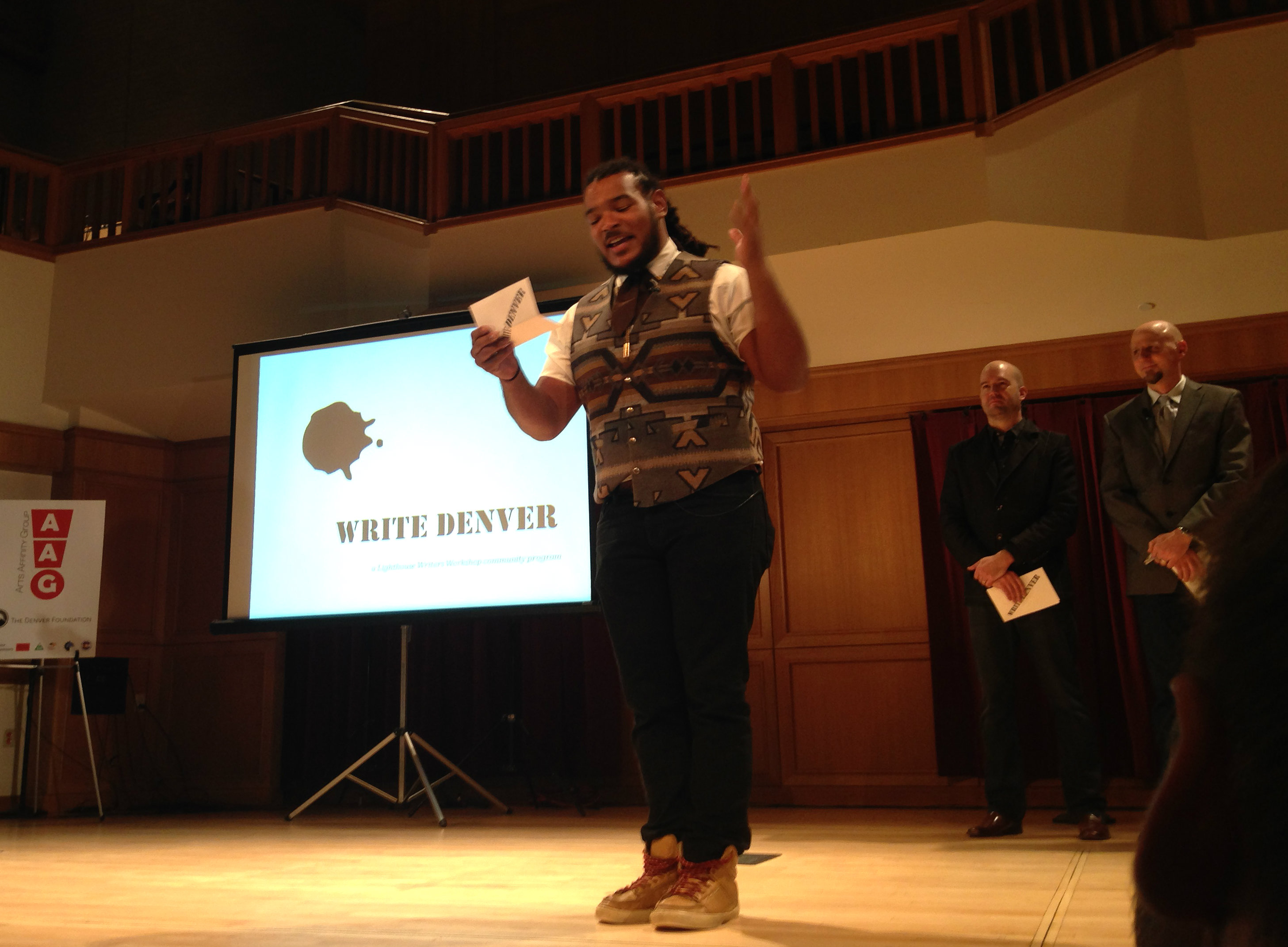 Photo: Jovan Mays Presents With Lighthouse Writers Workshop at Colorado Art Tank