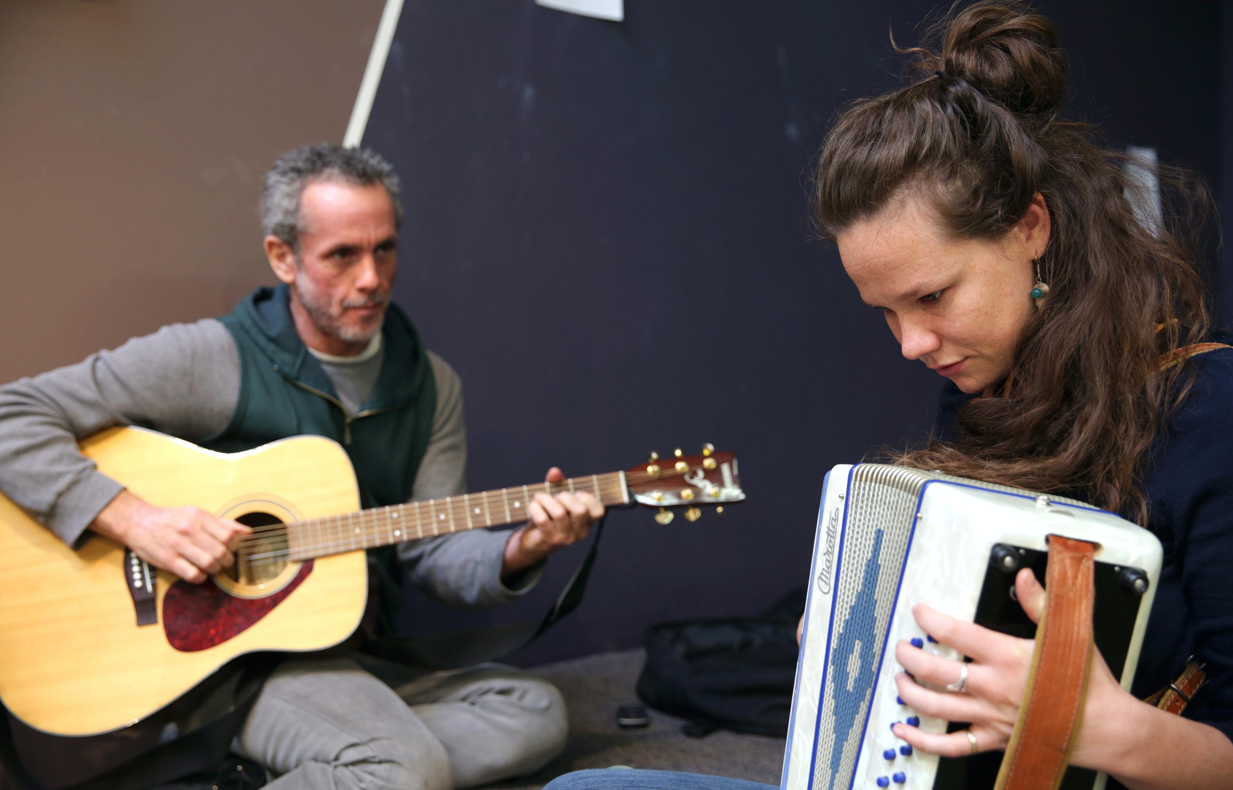 Photo: Maesa Pullman Rehearses Music For 'The Wild Hunt'