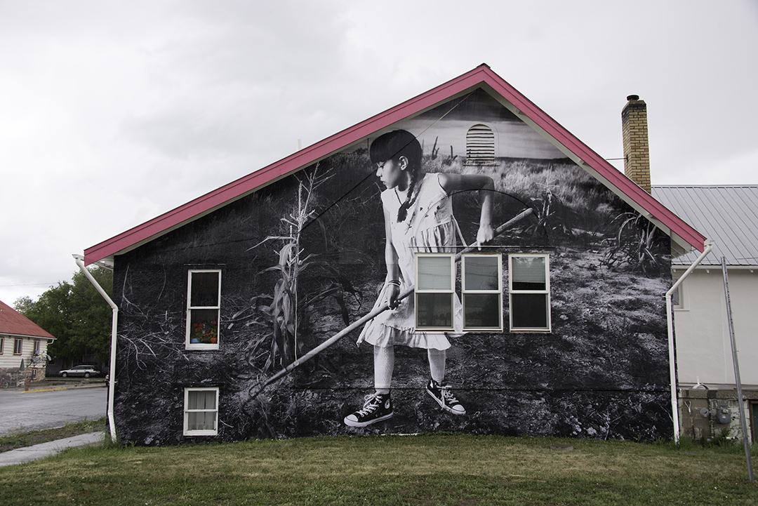 Photo: a photo mural by Chip Thomas in Hotchkiss