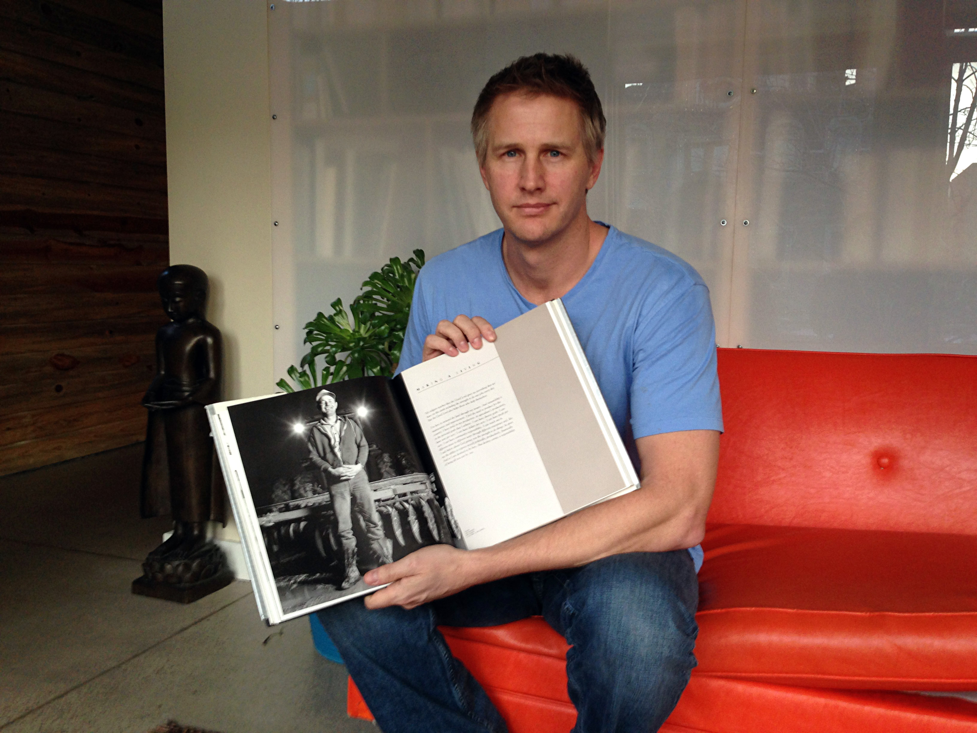 Photo: Daniel Junge with his father's book