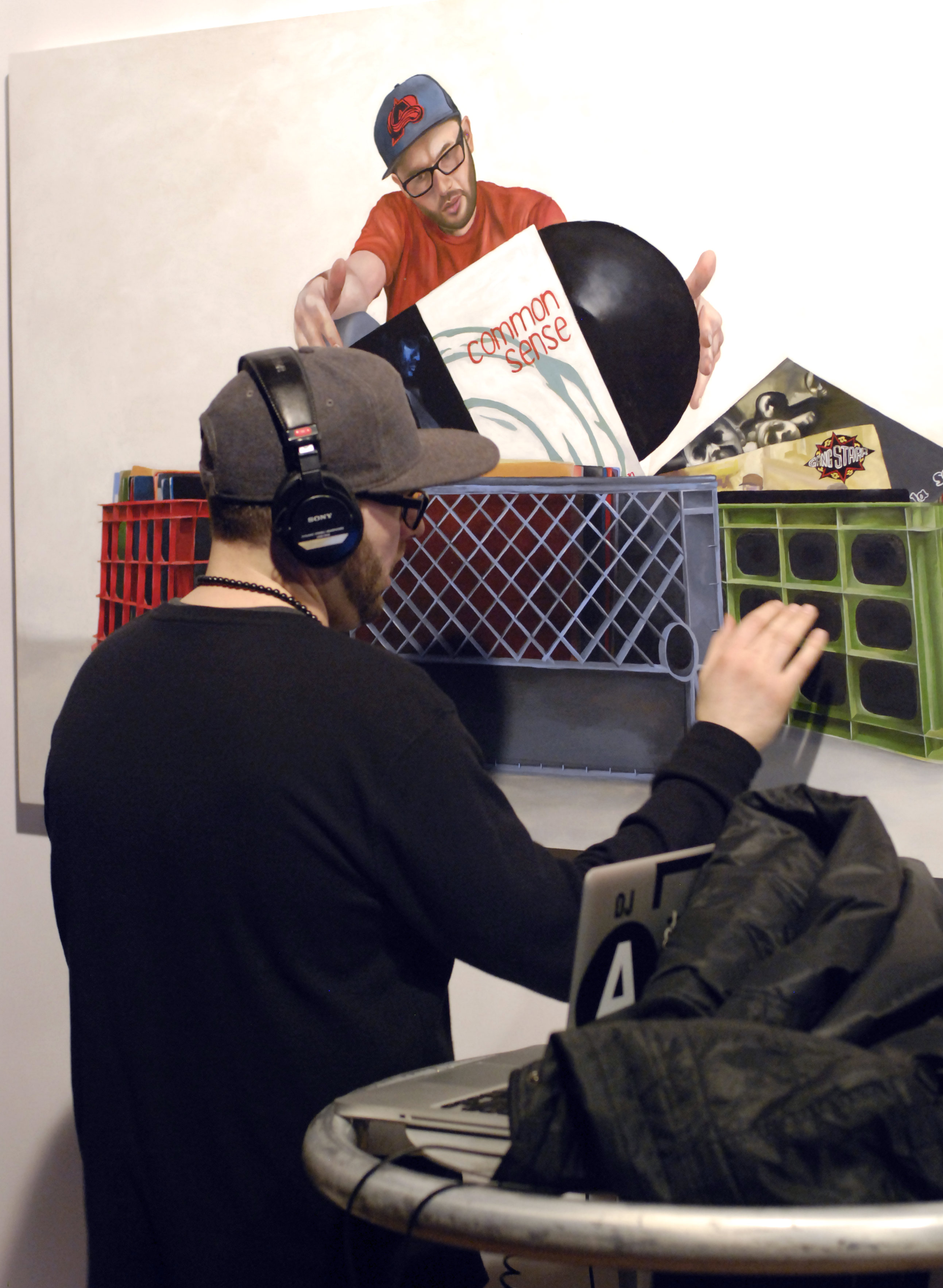 Photo: DJ A-L performs on painting by Detour
