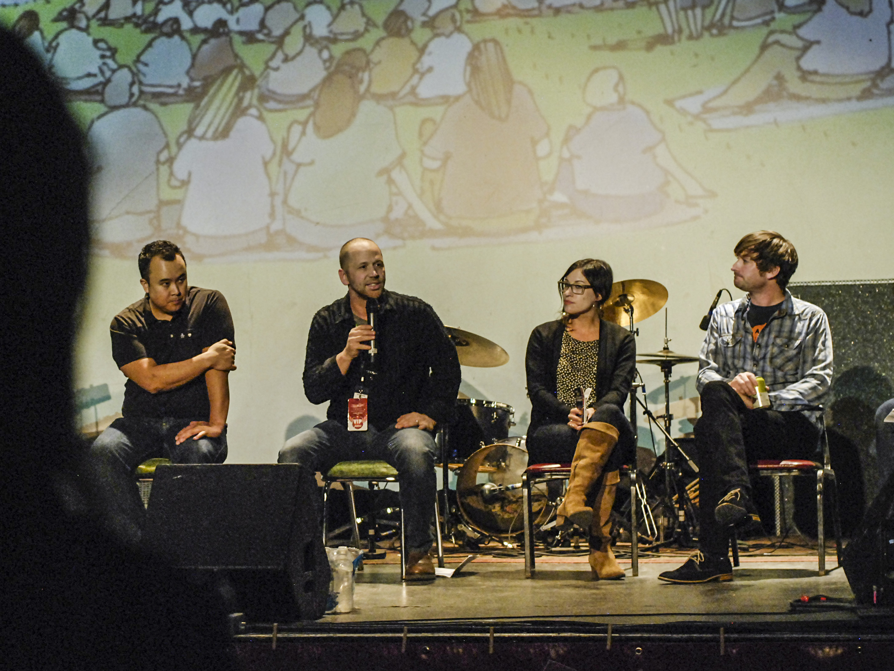 Photo: Levitt Pavilion panel at the Oriental Theater