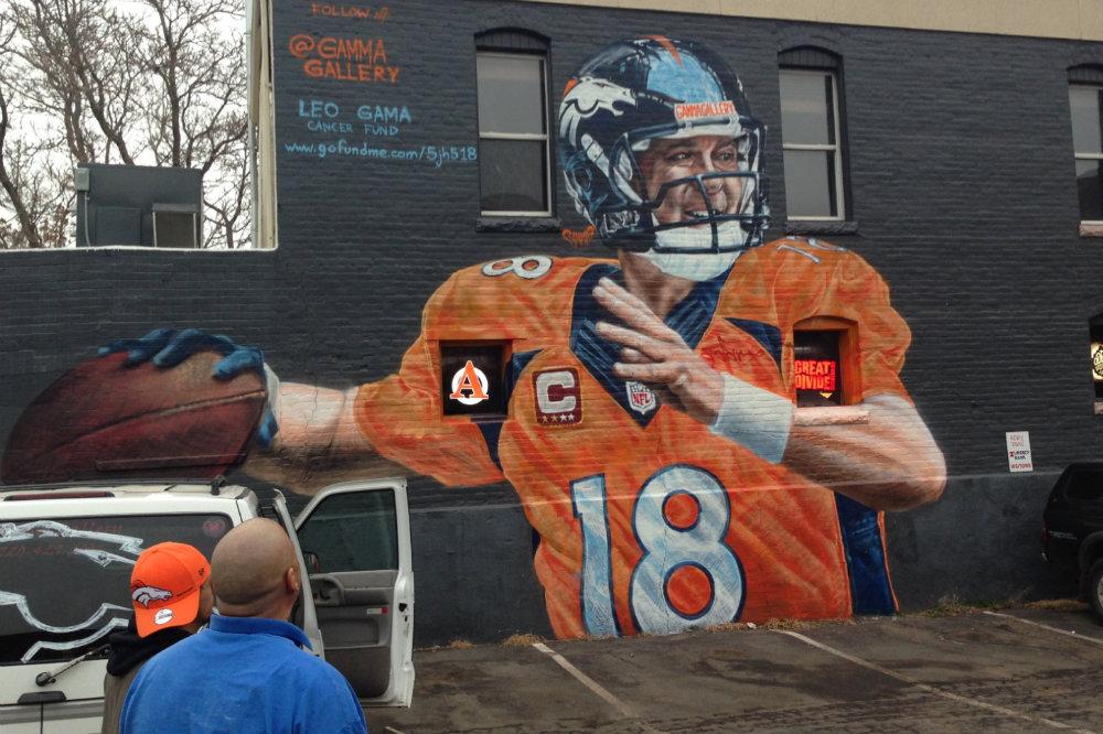 Photo: Gamma Gallery street art Peyton Manning mural