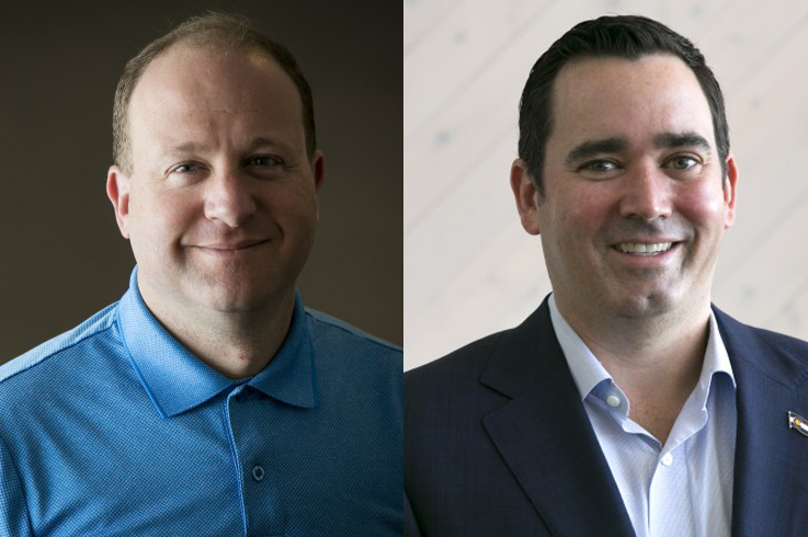 Photo: Jared Polis and Walker Stapleton
