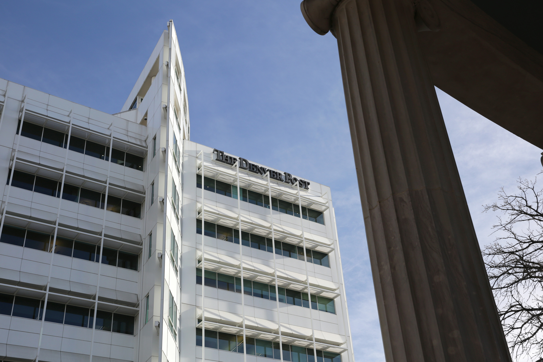 Photo: Denver Post Building From Civic Center Park (HV)