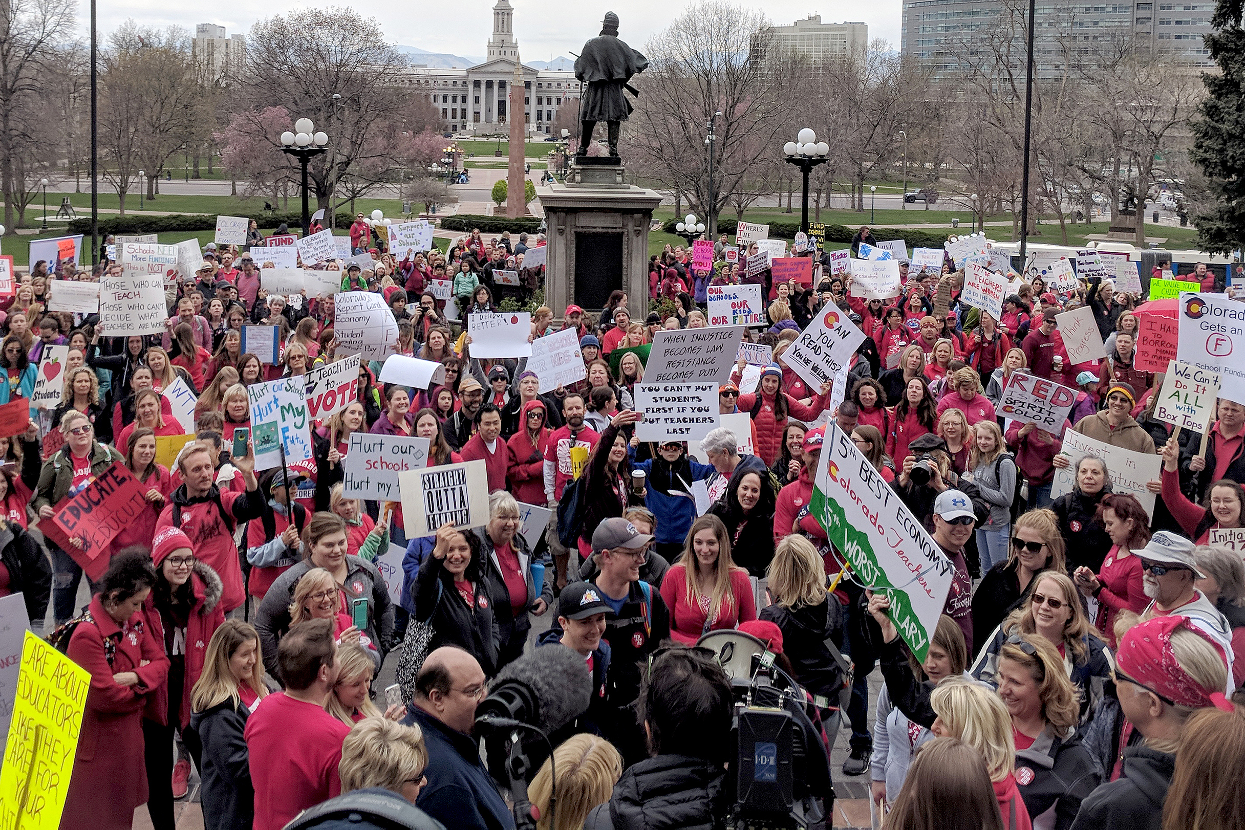 Photo: Teacher Walk Out Denver State Capitol April 26 SB5