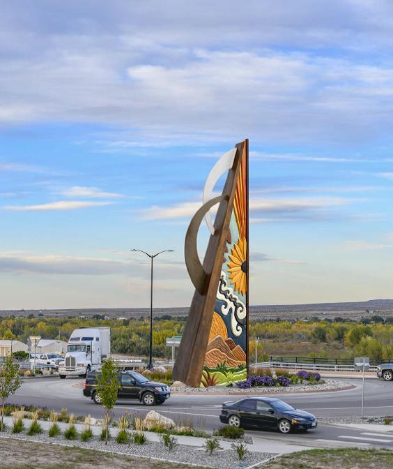 Photo: Pueblo Public Art Gateway to the Southwest 2