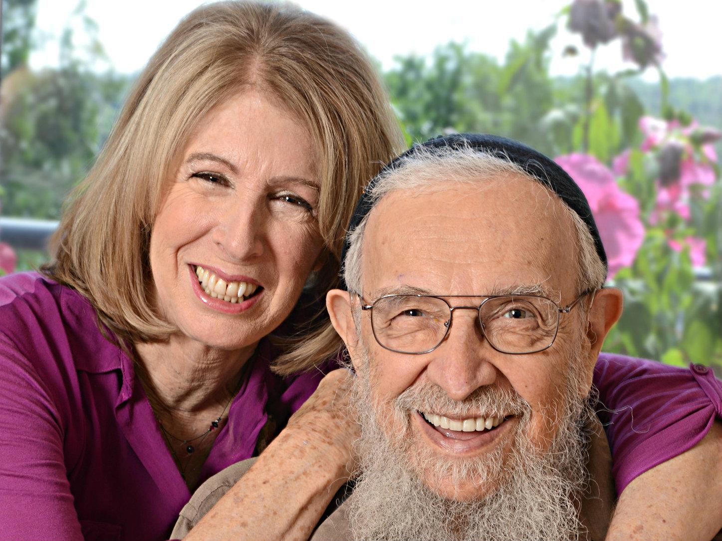 Photo: Boulder Rabbi Zalman Schachter-Shalomi and author Sara Davidson