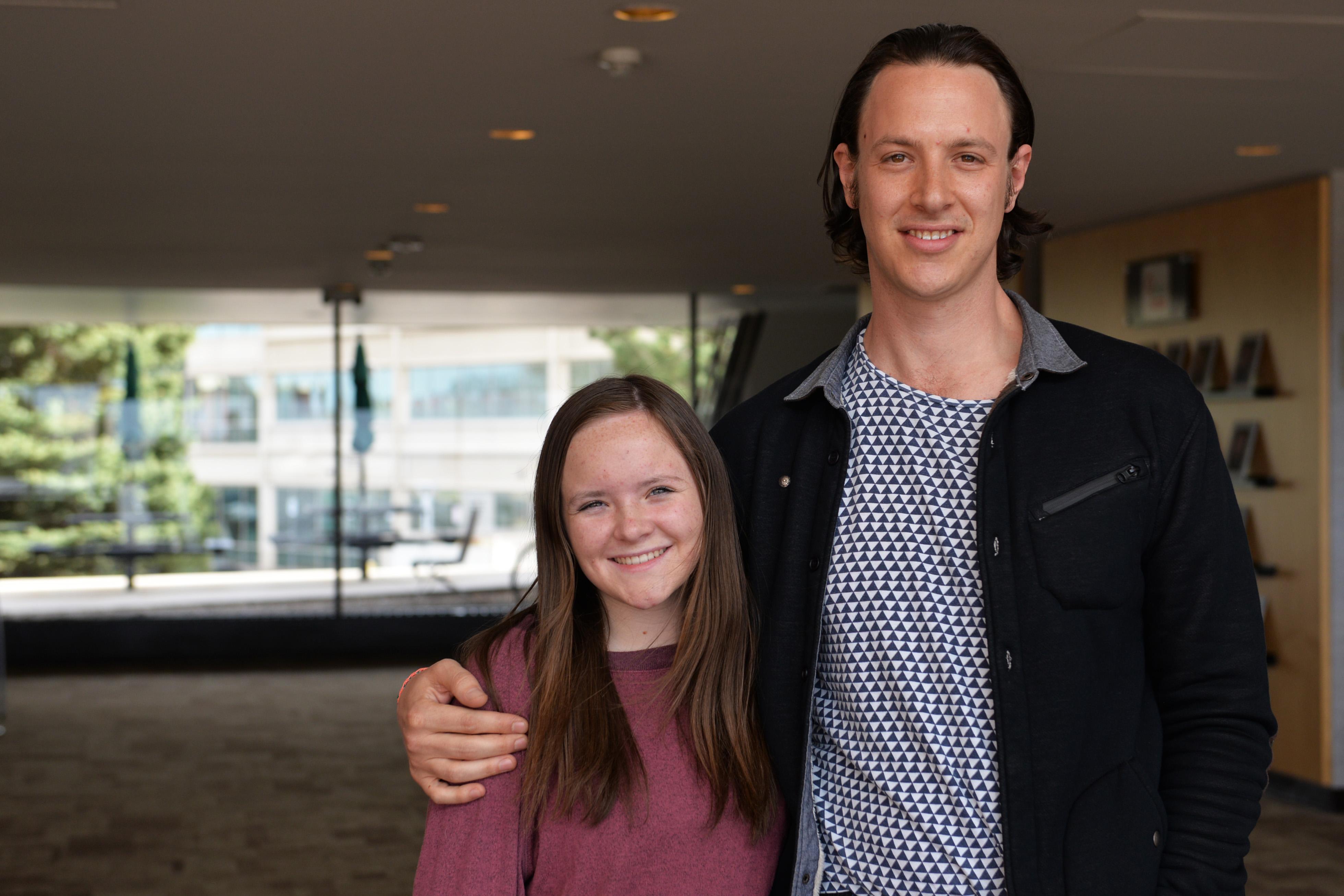 Photo: Rachel Hill and Ben Gelt student activists Columbine guns