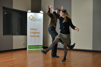 Photo: Denver Lindy Hoppers perform radio dance at CPR 3-2