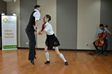Photo: Wonderbound radio dance in CPR studio 3-2