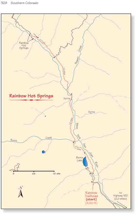 Photo: Rainbow Hot Springs Map