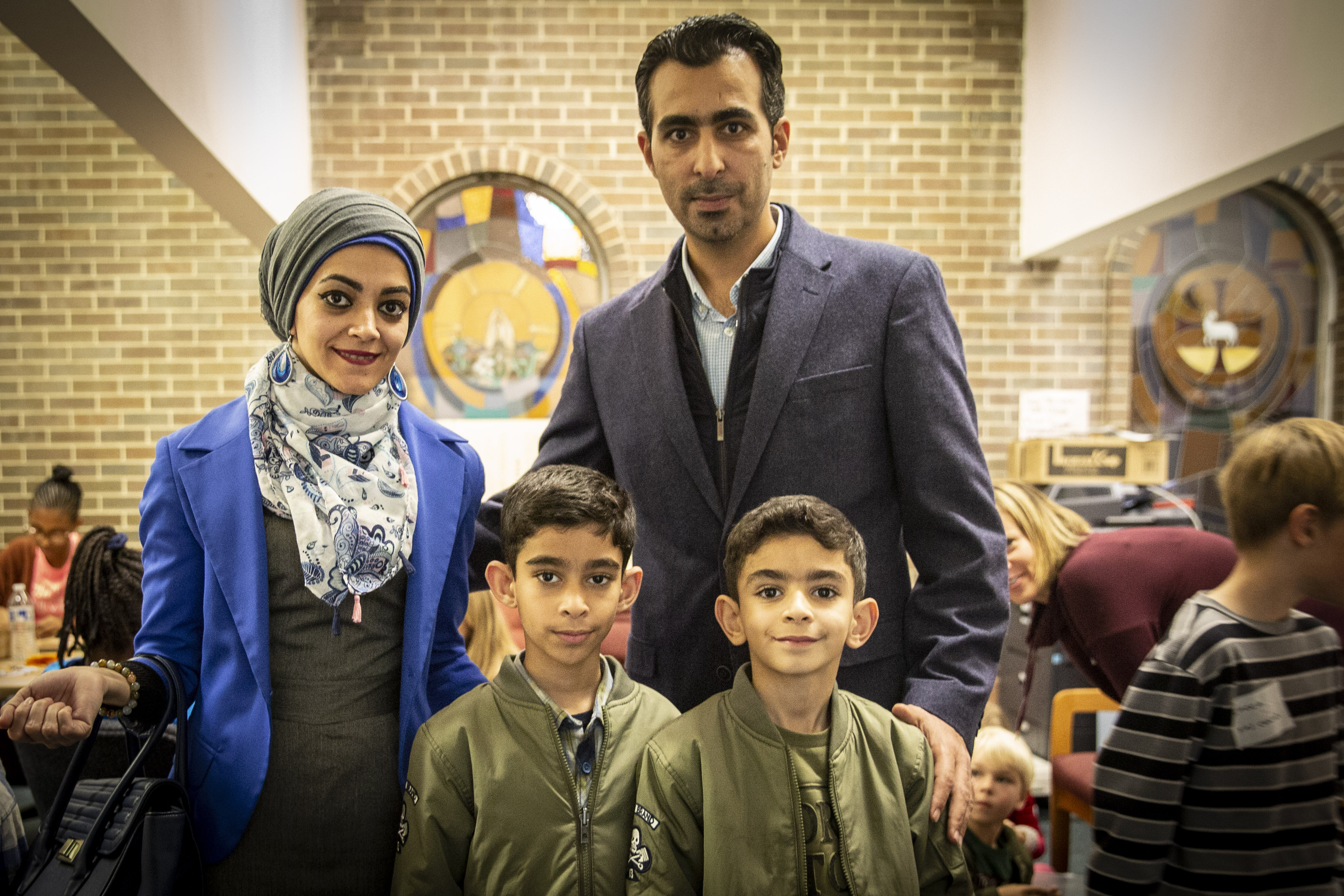 Photo: Refugee thanksgiving 5 | Mousa Alkhafaji and family
