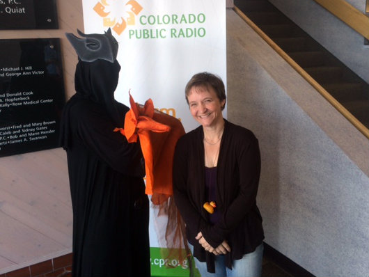 Photo: Robin Walsh and puppet friend