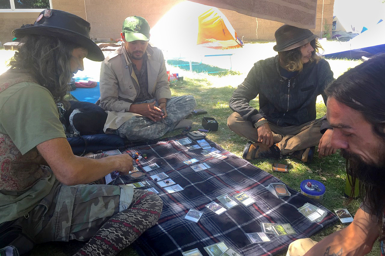 Photo: Durango Homeless Camp Playing Cards