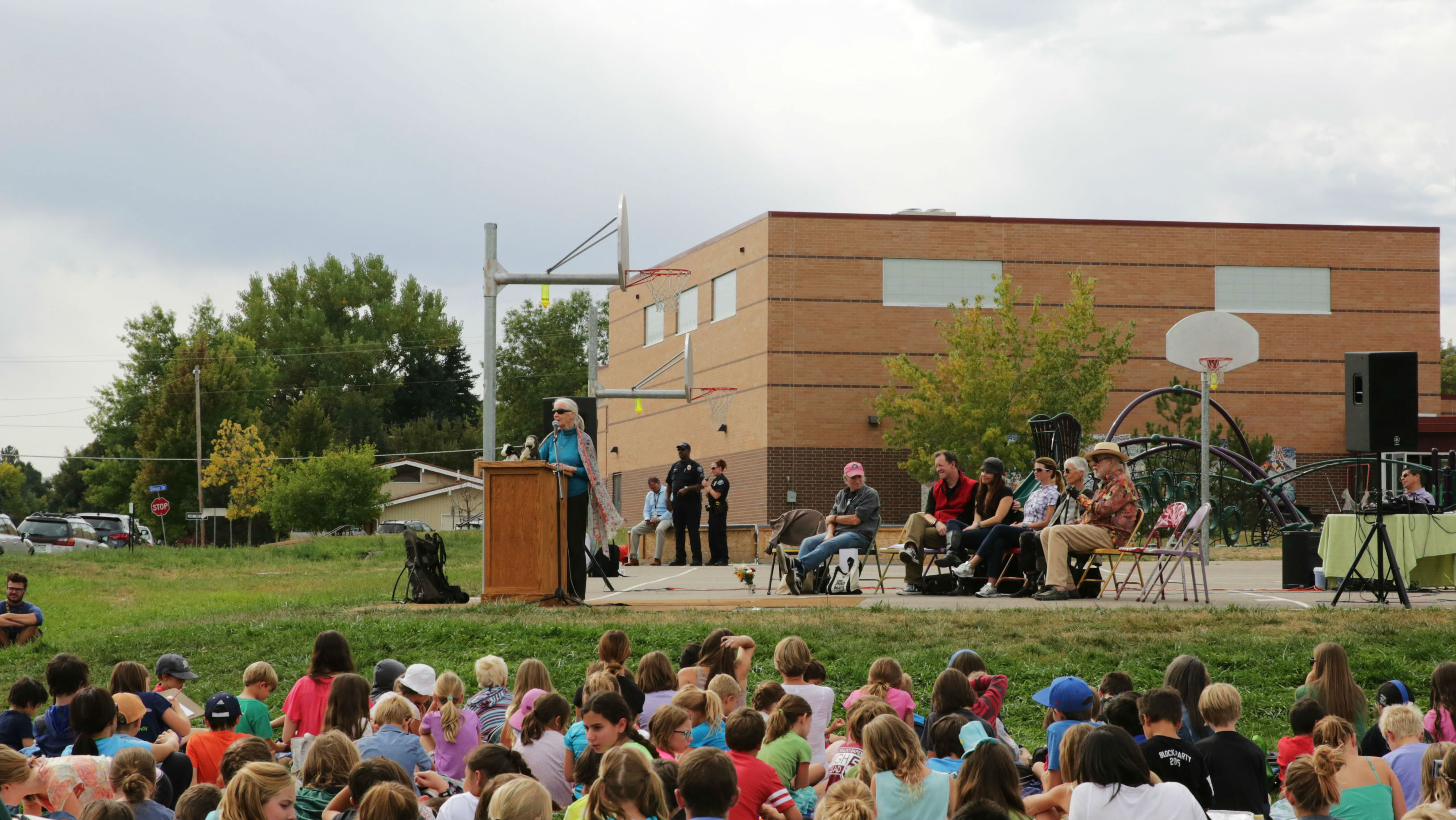 Photo: Jane Goodall at Roots and Shoots event in Boulder