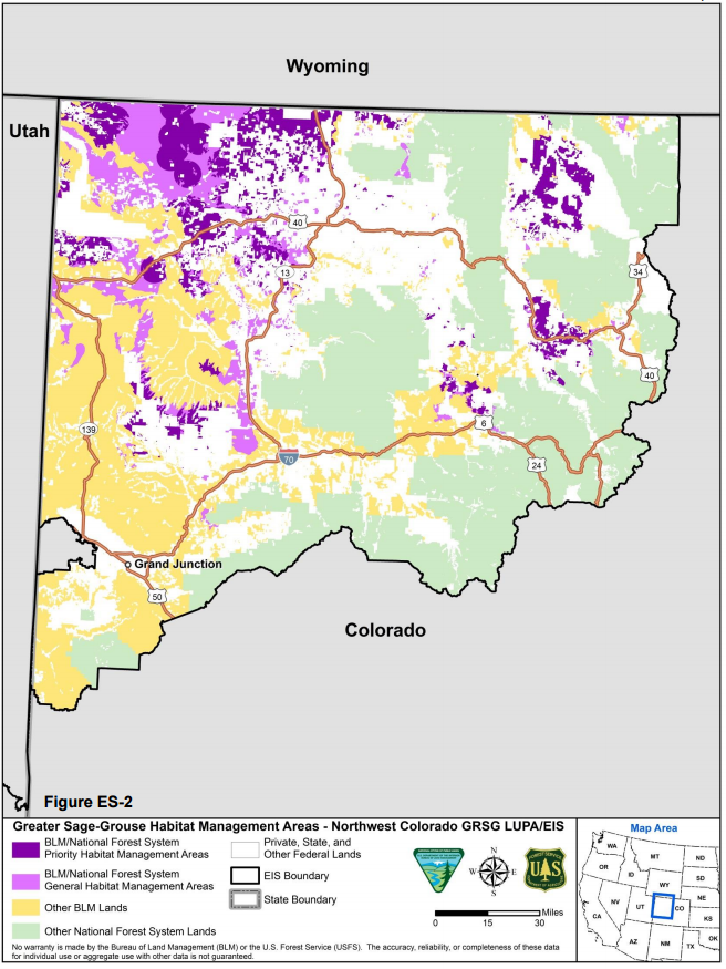 Map: Greater sage-grouse map