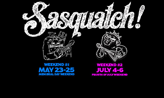 photo: Sasquatch fest