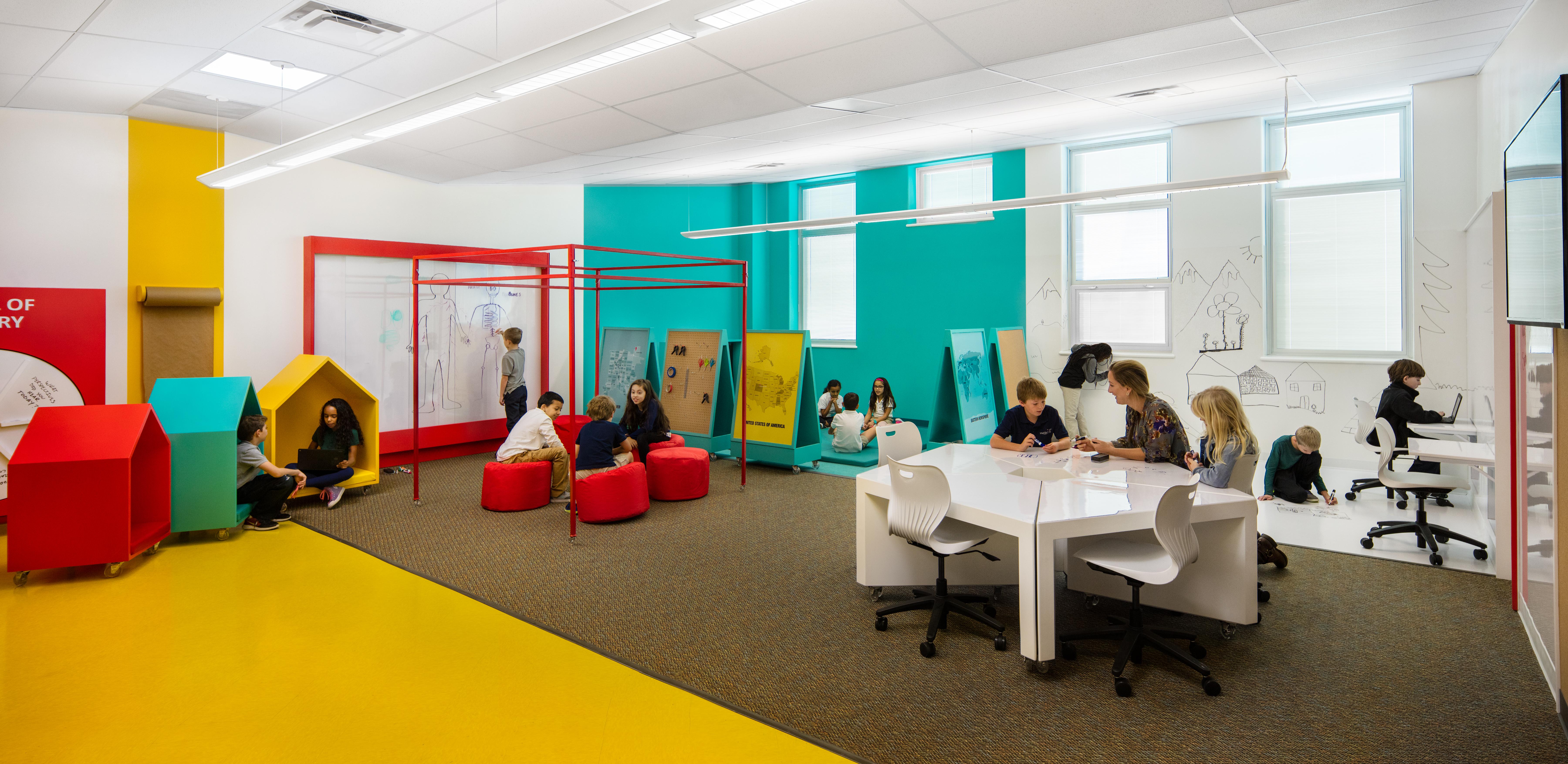 Photo: School classroom design High Tech Elementary Denver Public Schools wide shot