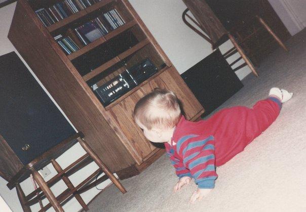 photo: Scott Carney as infant