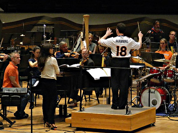 Photo: Scott O'Neil of Colorado Symphony in Broncos jersey