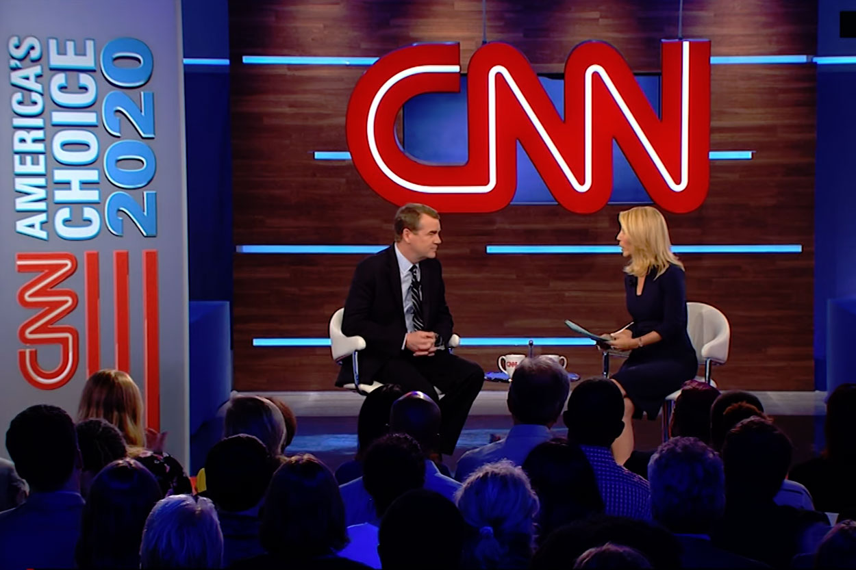 Photo: Michael Bennet CNN Town Hall | Screencap - Courtesy