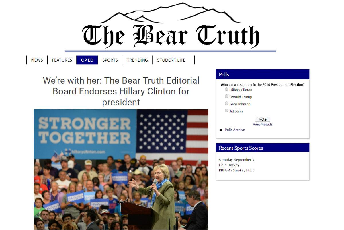 Photo: Screencap The Bear Truth Clinton Endorsement