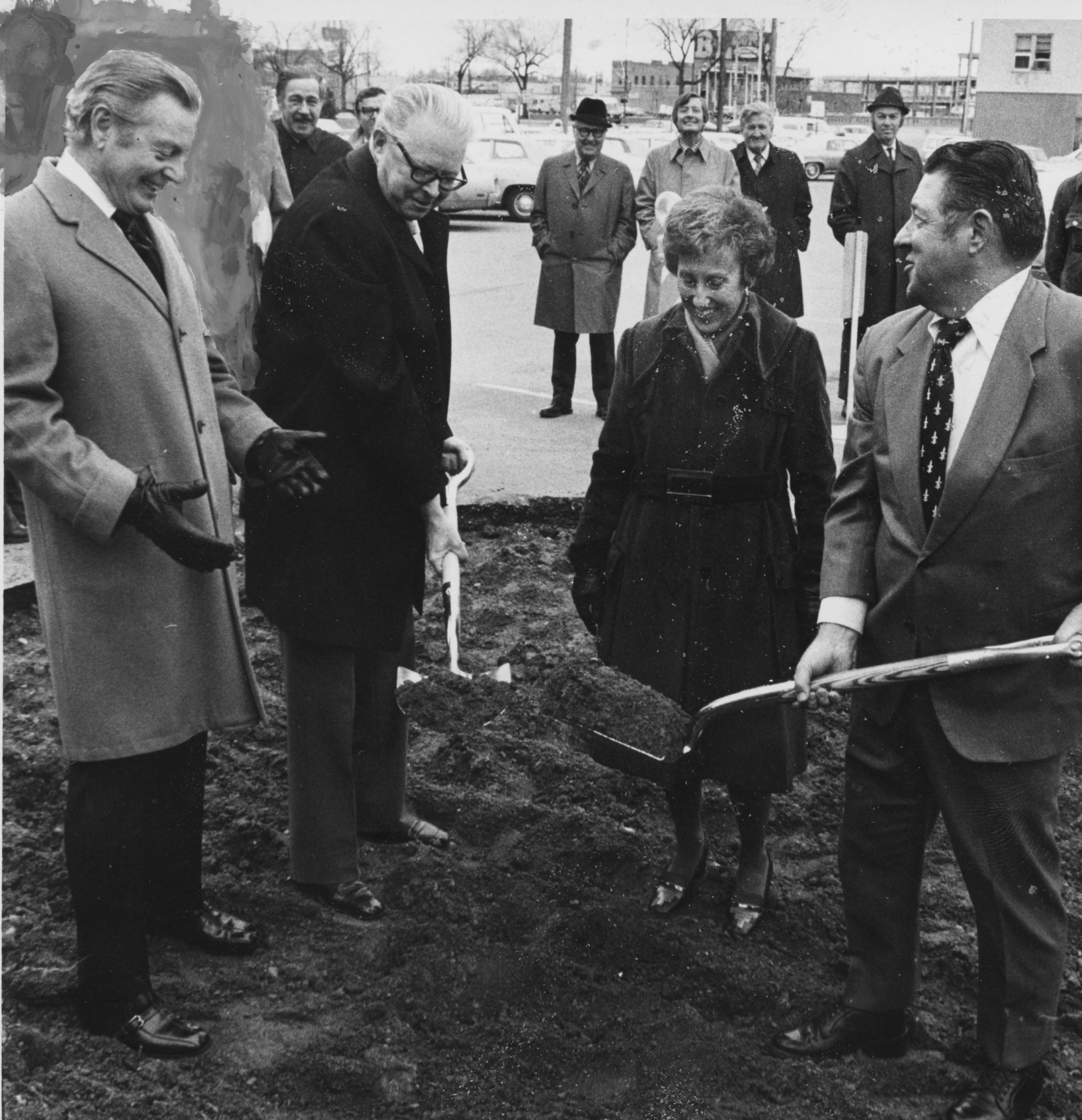Photo: Donald Seawell at DCPA groundbreaking, 1974