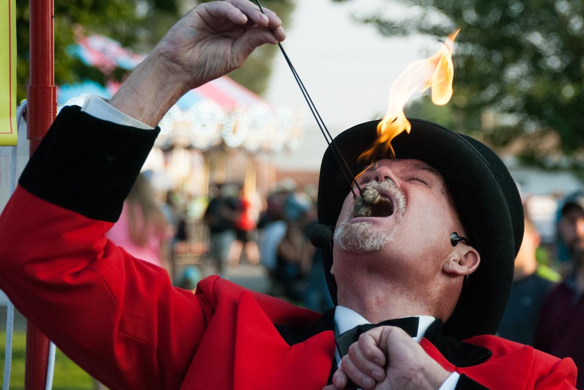 Photo: 2015 State Fair Fire eater