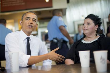 Photo Shelby Ramirez Martinez with President Obama