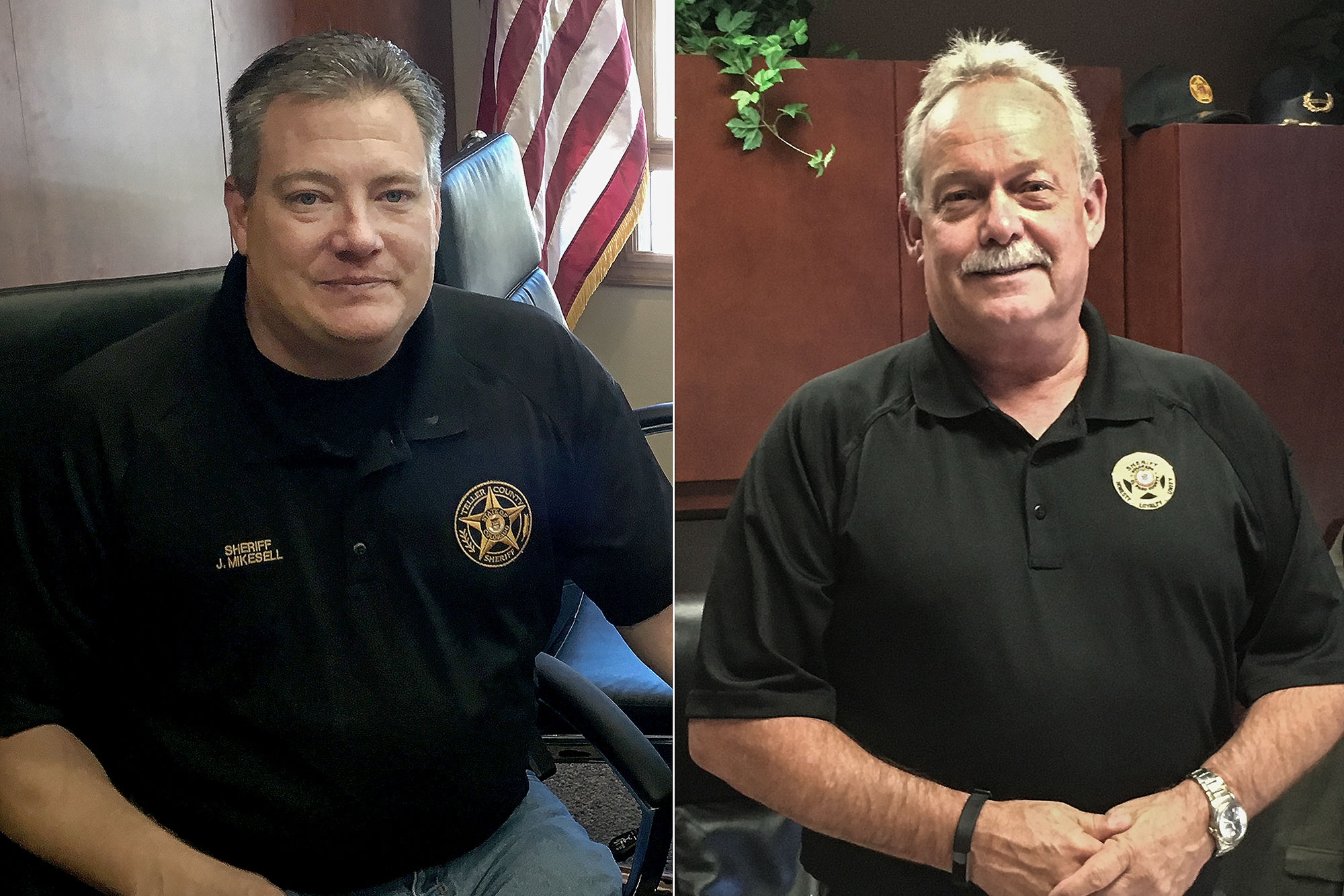 Photo: Teller County Sheriff Jason Mikesell El Paso County Sheriff Bill Elder
