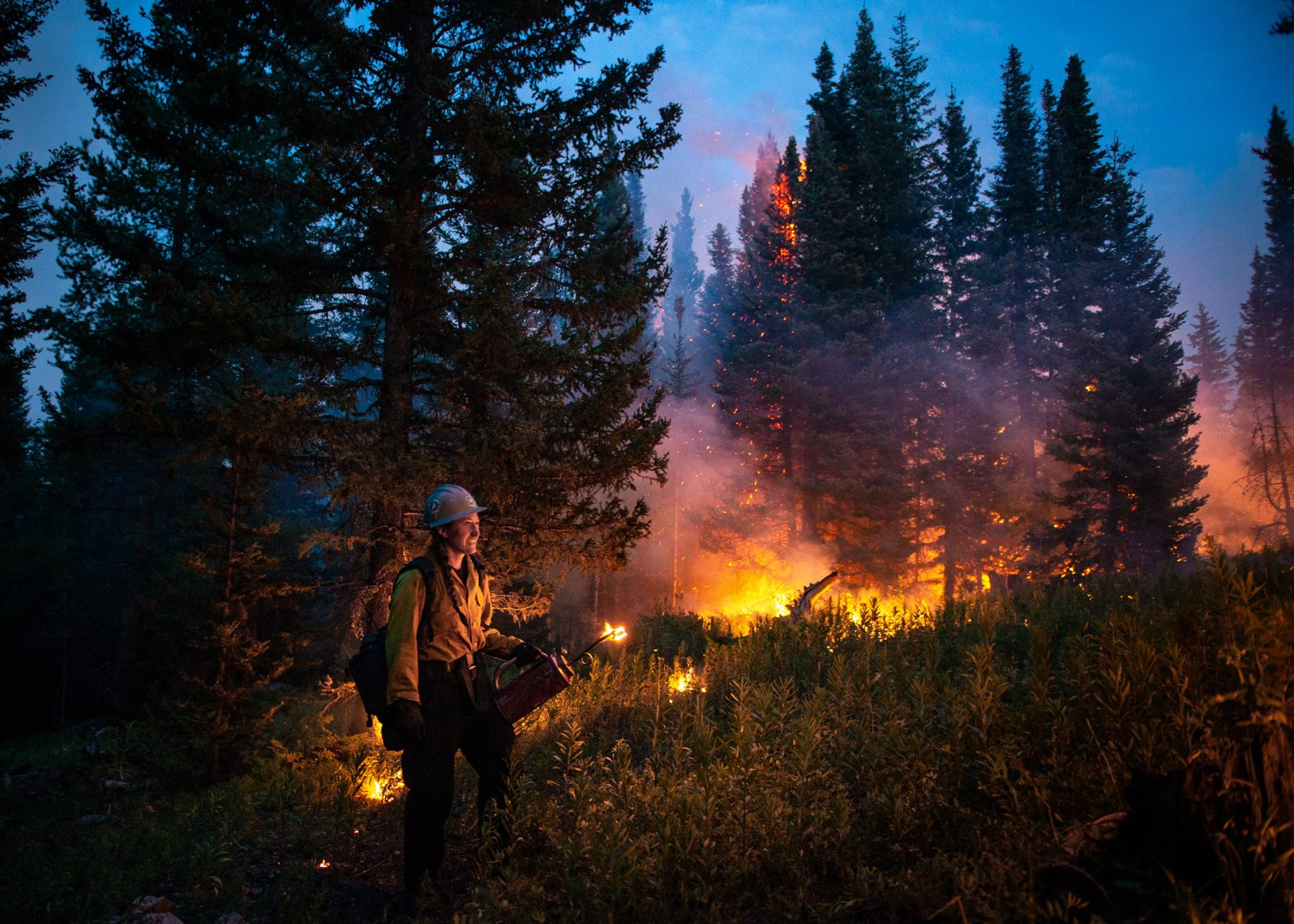 Photo: Silver Creek Fire Nighttime Operations 8-24