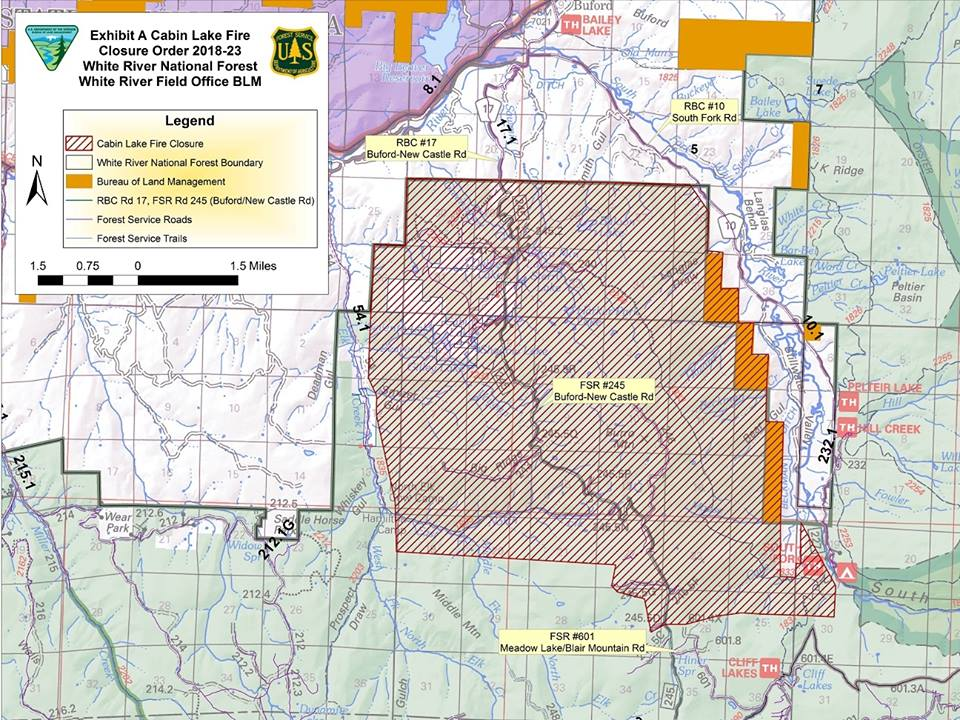 Photo: Silver Creek Fire Map 8-23
