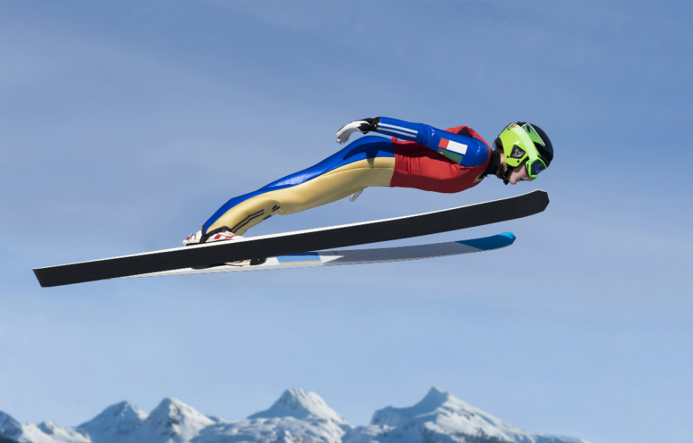 Photo: CPR Classical winter games ski jump no logo