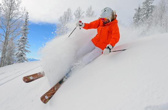 Photo: Skier in Orange