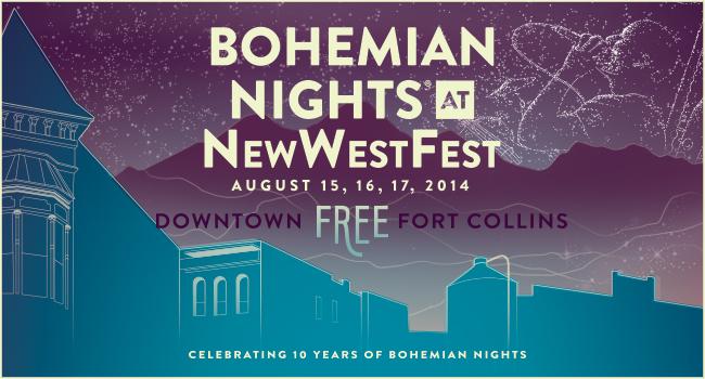 photo: Bohemian Nights at Newwestfest logo