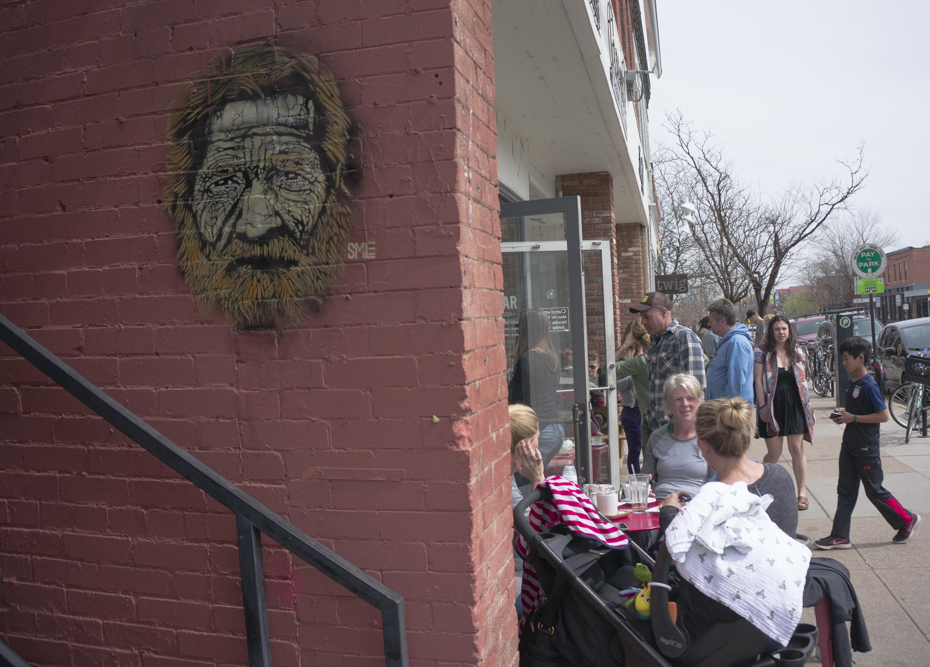 Photo: SMiLE artwork, Homeless Man Portrait, Pearl Street