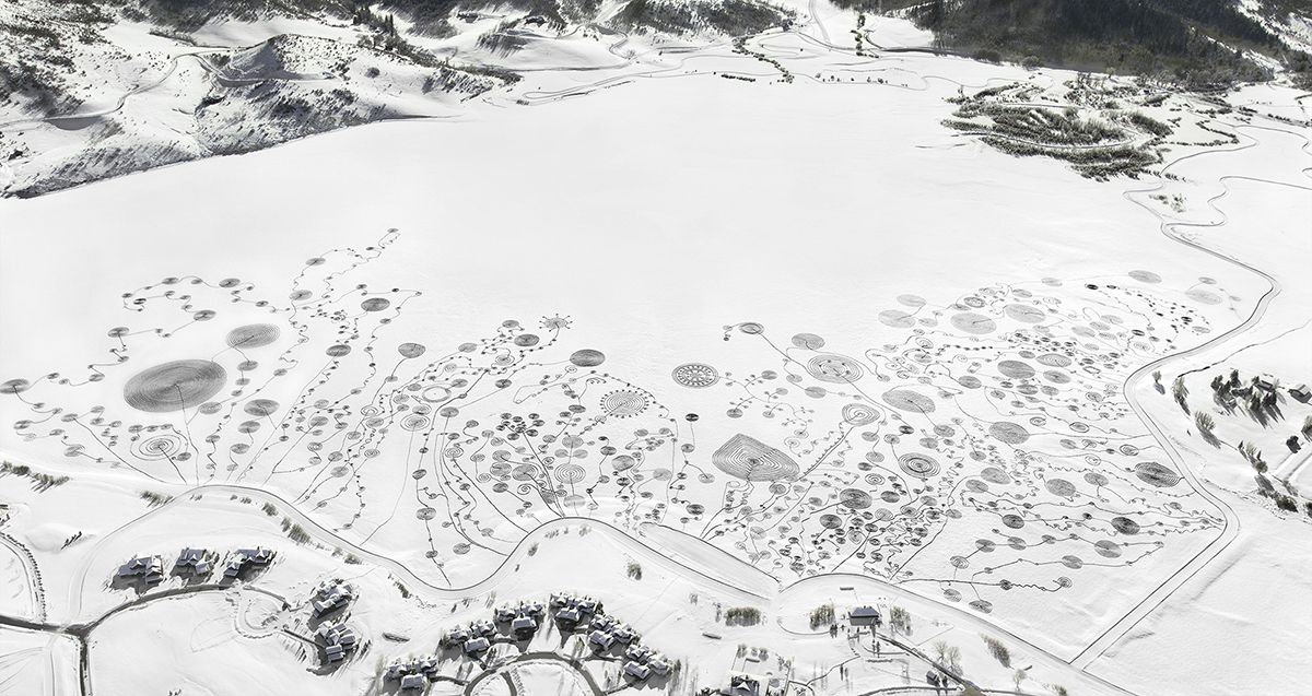 Photo: Snow drawing 6