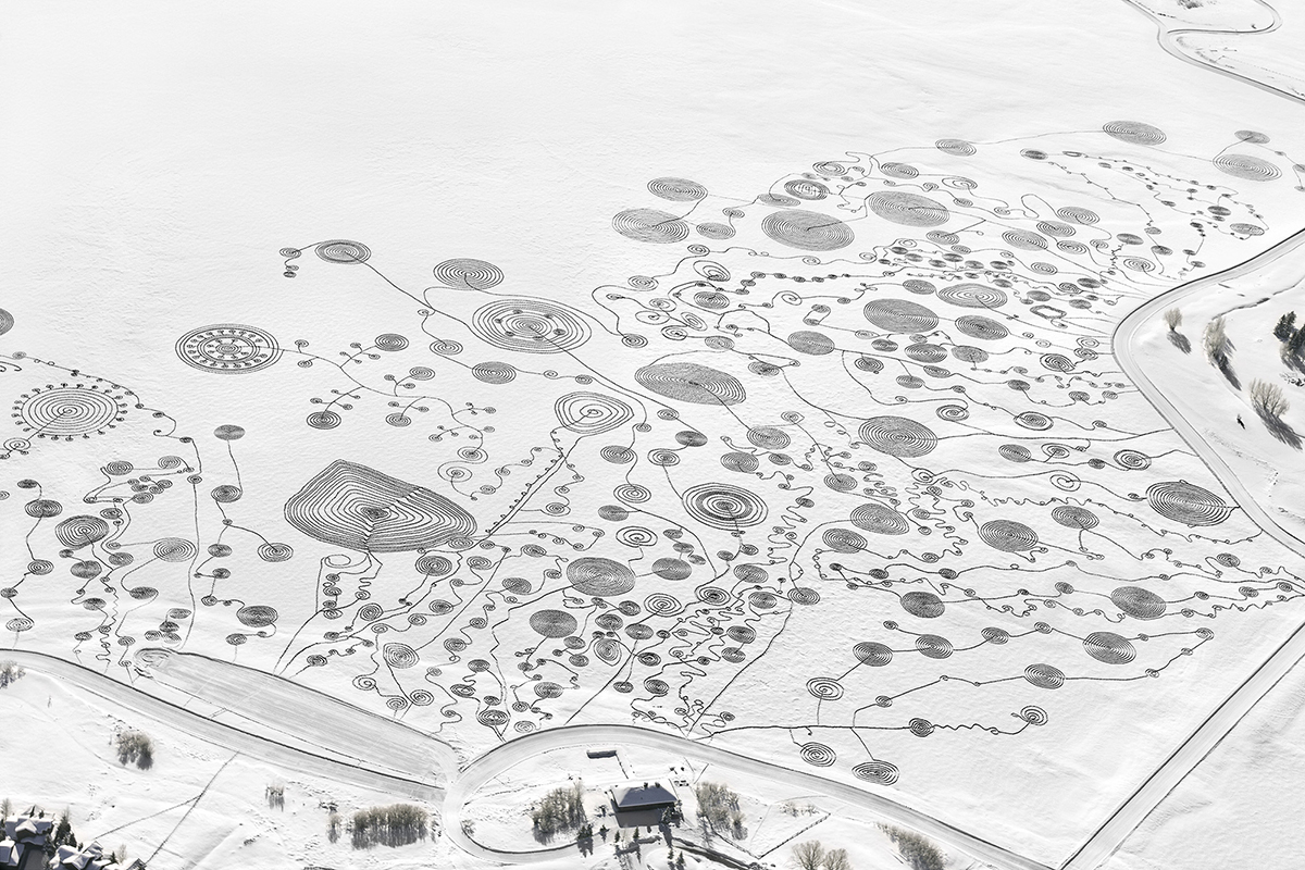 Photo: Snow drawing 7